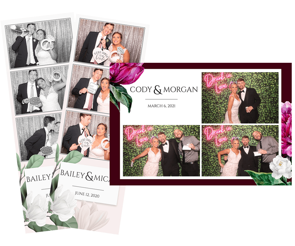 Photo Booth Postcard or Strips Option